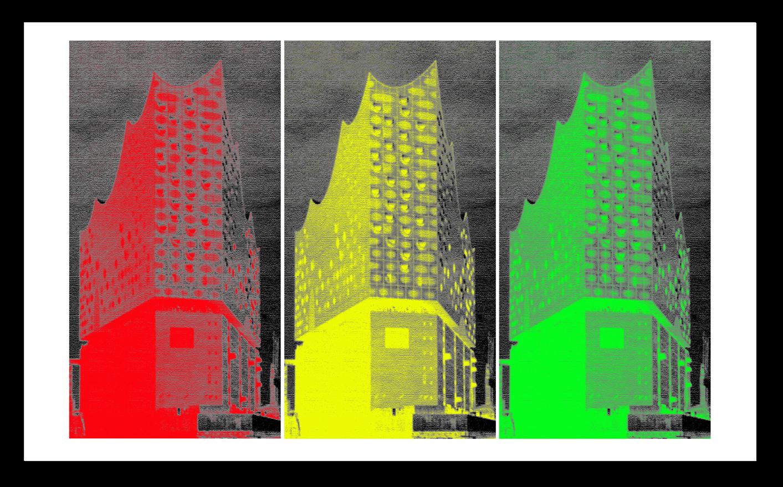 Elbphilharmonie, Pop Art - im Warhol-Stil, limitiert, signiert