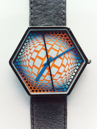 Vasarely Uhr - Matrix